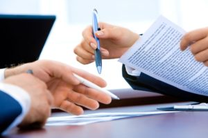 signing a mortgage agreement